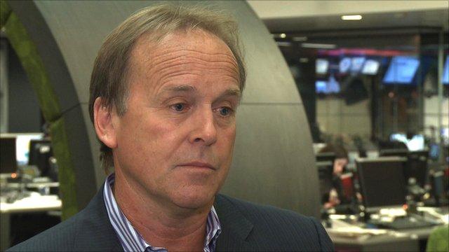 BBC commentator John Lloyd