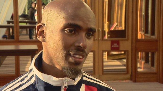 World champion runner Mo Farah
