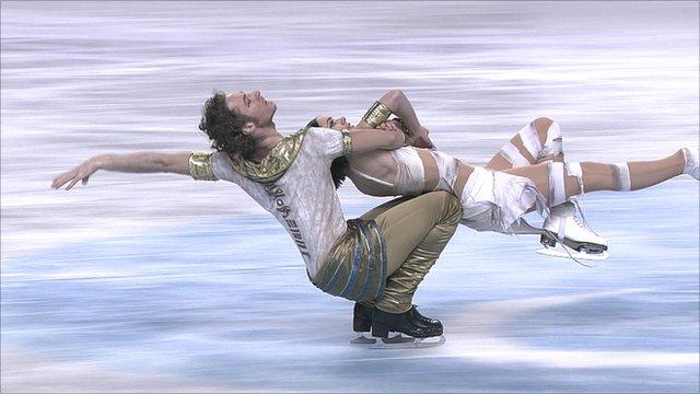 French ice dancers Nathalie Pechalat and Fabian Bourzat