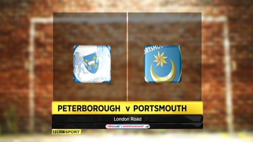 Peterborough 0-3 Portsmouth