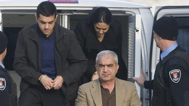 Three convicted members of the Shafia family