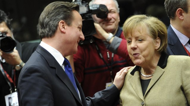 Prime Minister David Cameron and German Chancellor Angela Merkel