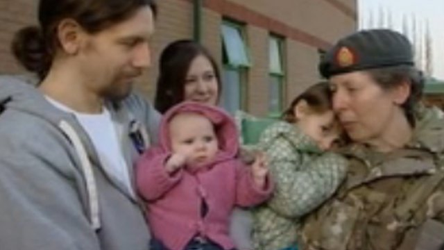 Captain Celia Hill is reunited with her family