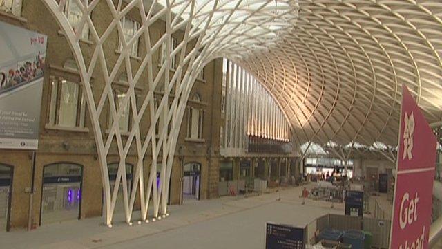 Inside King's Cross station