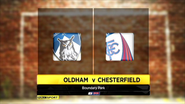 Oldham 0-1 Chesterfield (agg 1 - 3)