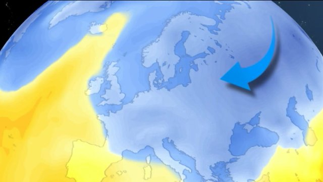 Map illustrating cold snap area