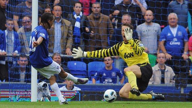 Steven Pienaar scores for Everton