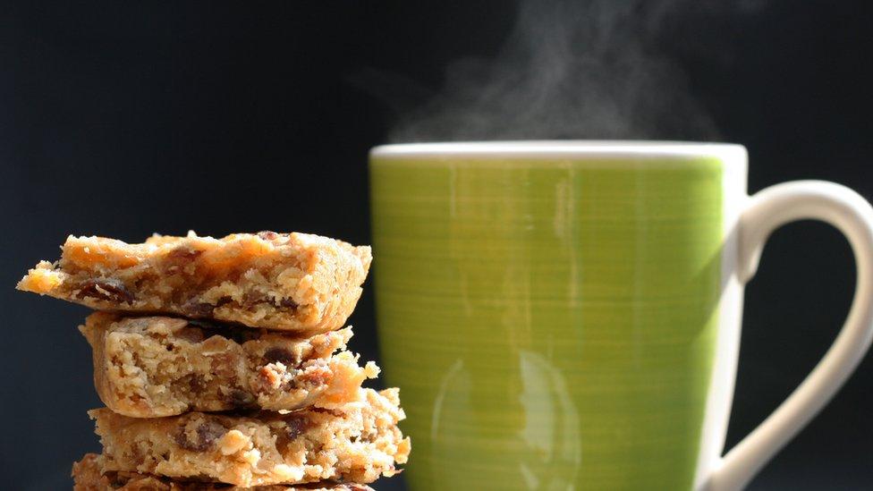 Food and a mug