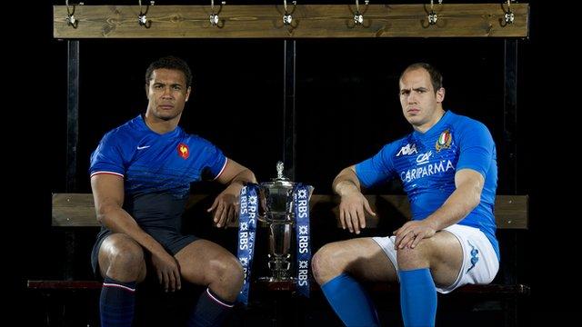 France captain Thierry Dusautoir and Italy captain Sergio Parisse
