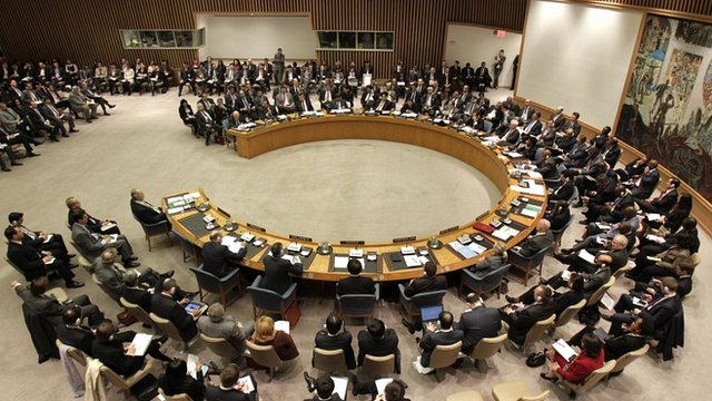 UN Security Council meets to discuss Syria at the United Nations headquarters