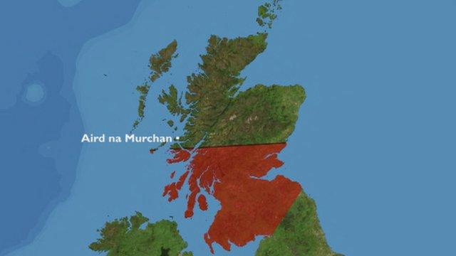 Map de roinn iomain a' chinn a deas