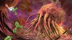 Artwork of Tumor deach-cell reseptors on a breast cancer cell (E Paul/Q Paul/R Gamble)