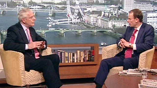 Sir John Major and Andrew Marr on The Andrew Marr Show