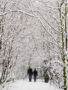 Walkers in a London park