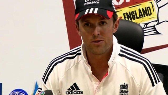 England bowler Graeme Swann