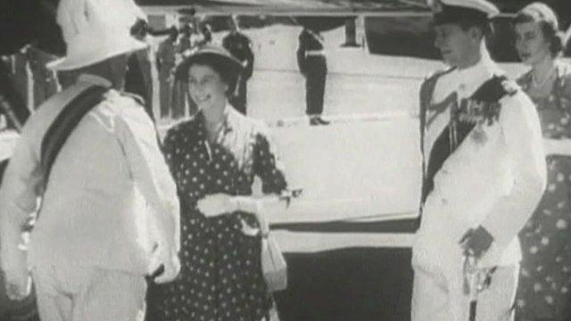 The Queen in Africa in 1952