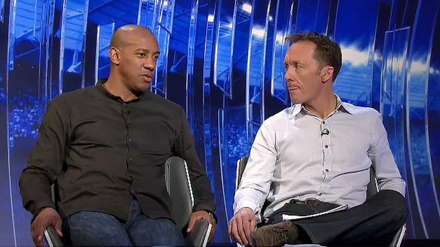 Dion Dublin and Lee Dixon