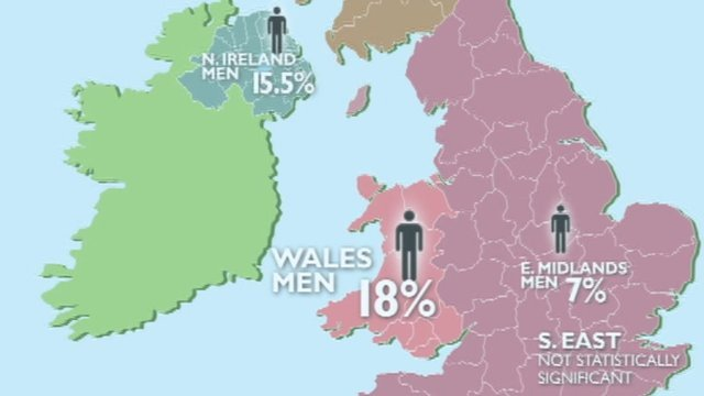 Regional pay map