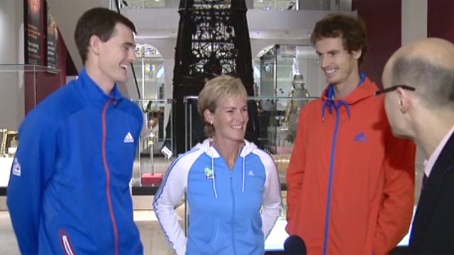 Jamie, Judy and Andy Murray