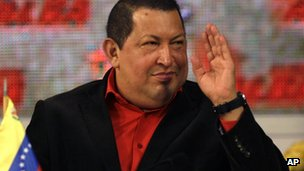 President Hugo Chavez attends a summit by the eight-nation Bolivarian Alliance bloc, Alba, t Miraflores presidential palace in Caracas, Venezuela, on Saturday 4 February