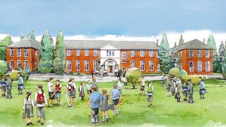 Artist's impression of Heyford Park Free School