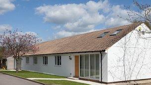 A refurbished bungalow on Heyford Park site