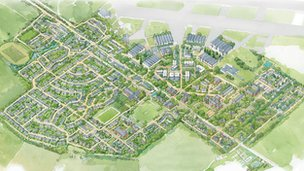 Aerial view of the master plan at Heyford Park