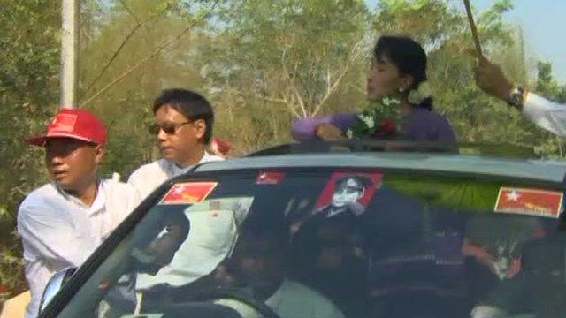 The Burmese opposition leader, Aung San Suu Kyi