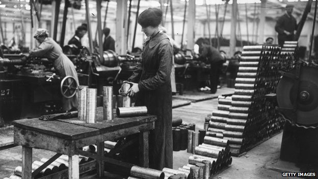 Munitions factory in UK in 1915