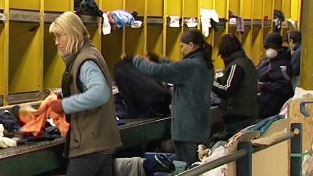 Clothes sorting depot