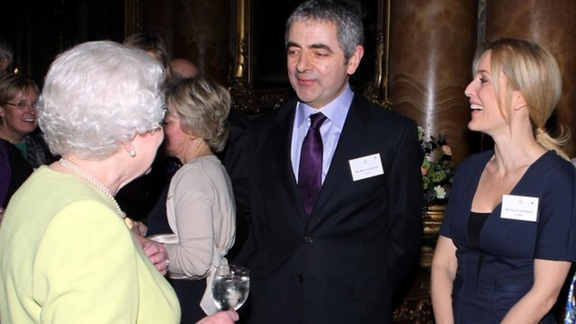 The Queen hosts a reception in Dickens's honour at Buckingham Palace