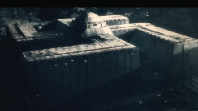 A spaceship from a scene in the film