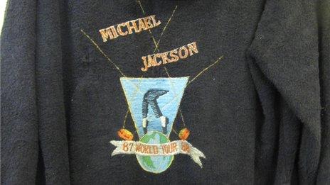 Michael Jackson tour dressing gown