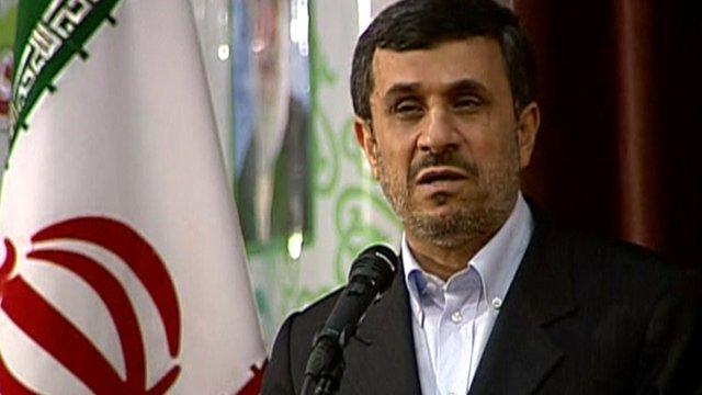 Iran's president, Mahmoud Ahmadinejad
