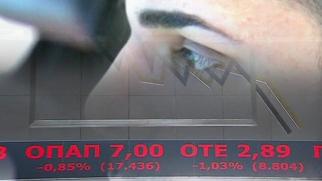 Man watching stock exchange fall