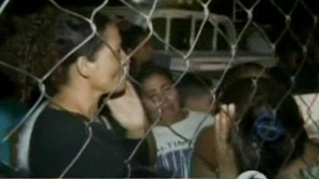 Women waiting outside prison