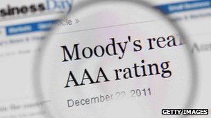 Moody's in a newspaper