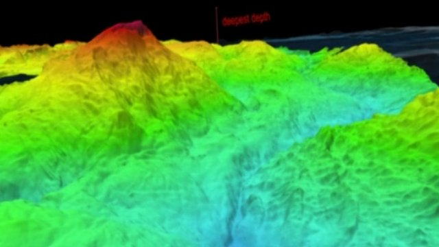 Map of the Mariana Trench