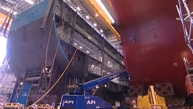 Work being carried out on The Prince of Wales in Portsmouth