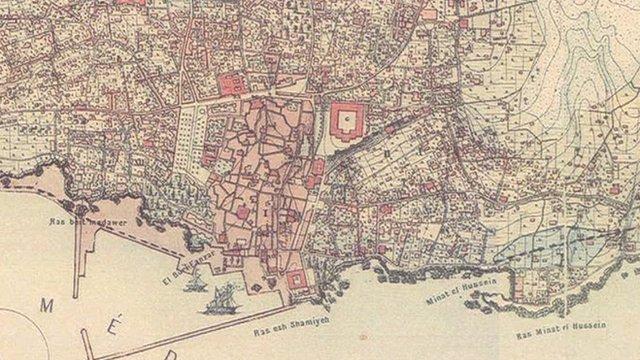 Map of Beirut