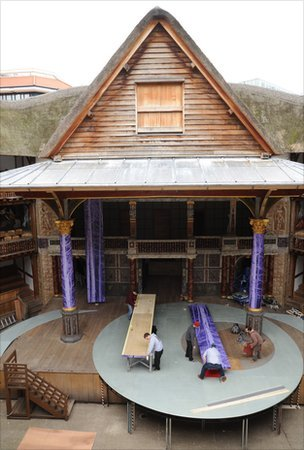 The Globe stage