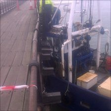 The trawler in Southend Pier
