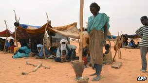 Malian refugee camp in Chinegodar, western Niger, close to the Malian border, on 4 February 2012