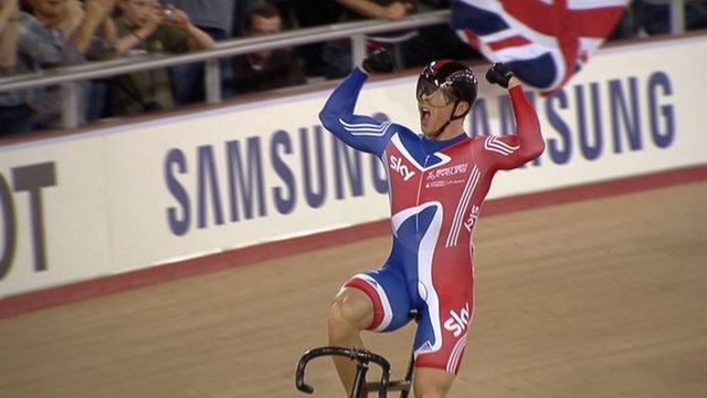 Sir Chris Hoy wins keirin gold at Track Cycling World Cup 2012