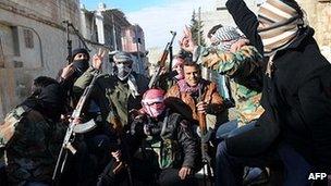 Free Syrian Army members in Idlib, 18 Feb