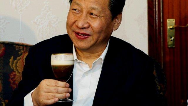 Vice-President Xi Jinping drinking Irish coffee