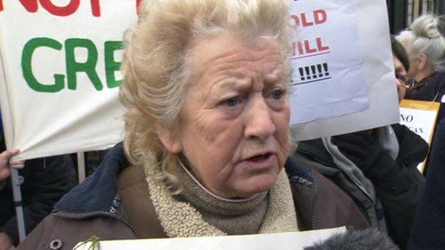 June Hautot confronted the Health Secretary