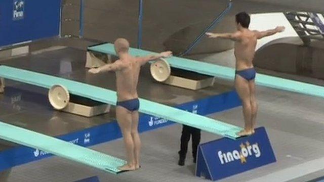 GB divers compete in Aquatics Centre