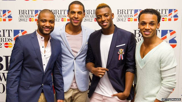 JB Gill, Marvin Humes, Oritse Williams and Aston Merrygold of JLS