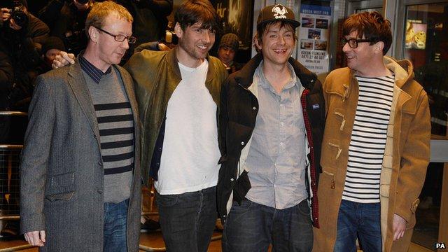 Dave Rowntree, Alex James, Damon Albarn and Graham Coxon of Blur